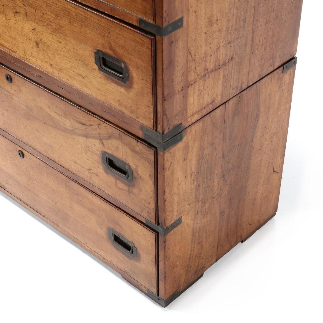 George III Mahogany Campaign Chest On Chest with - 6