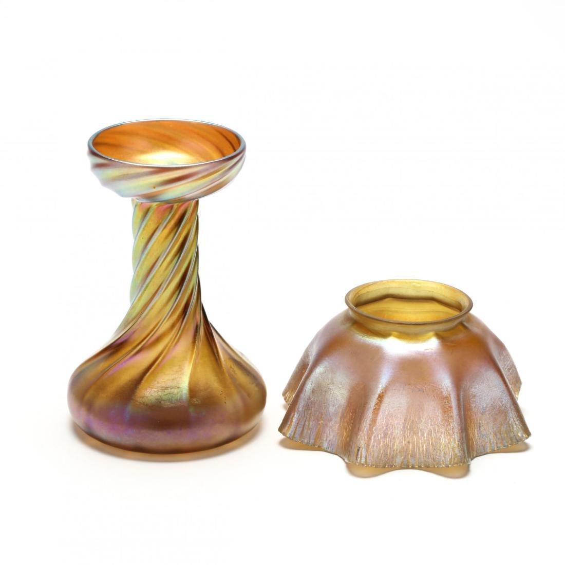 L.C. Tiffany, Seven Pieces of Favrile Art Glass - 2