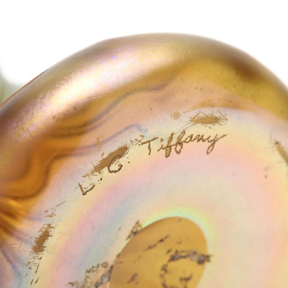 L.C. Tiffany, Seven Pieces of Favrile Art Glass - 3