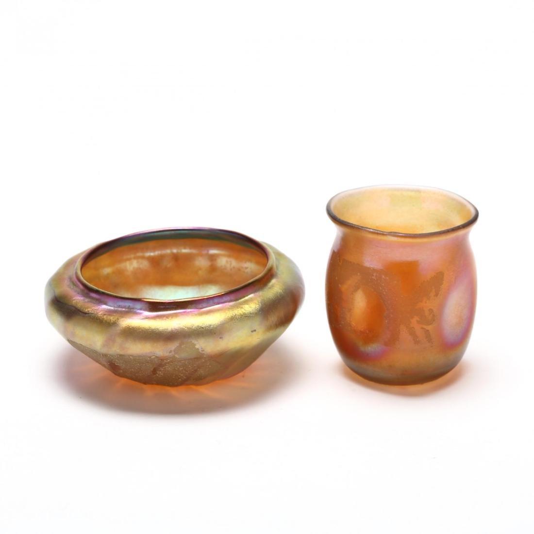 L.C. Tiffany, Seven Pieces of Favrile Art Glass - 4