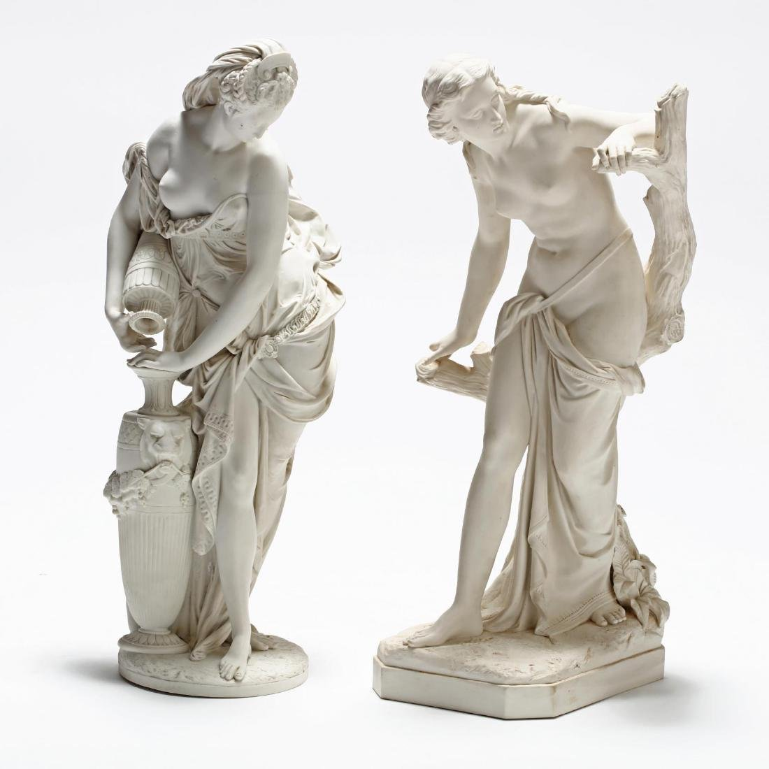 Two Parian Ware Figures