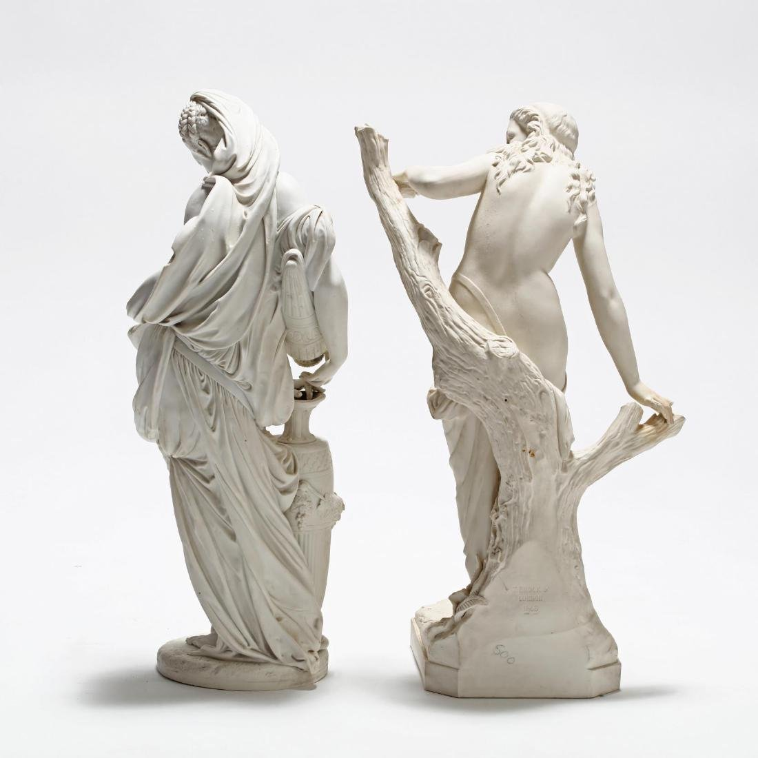 Two Parian Ware Figures - 6