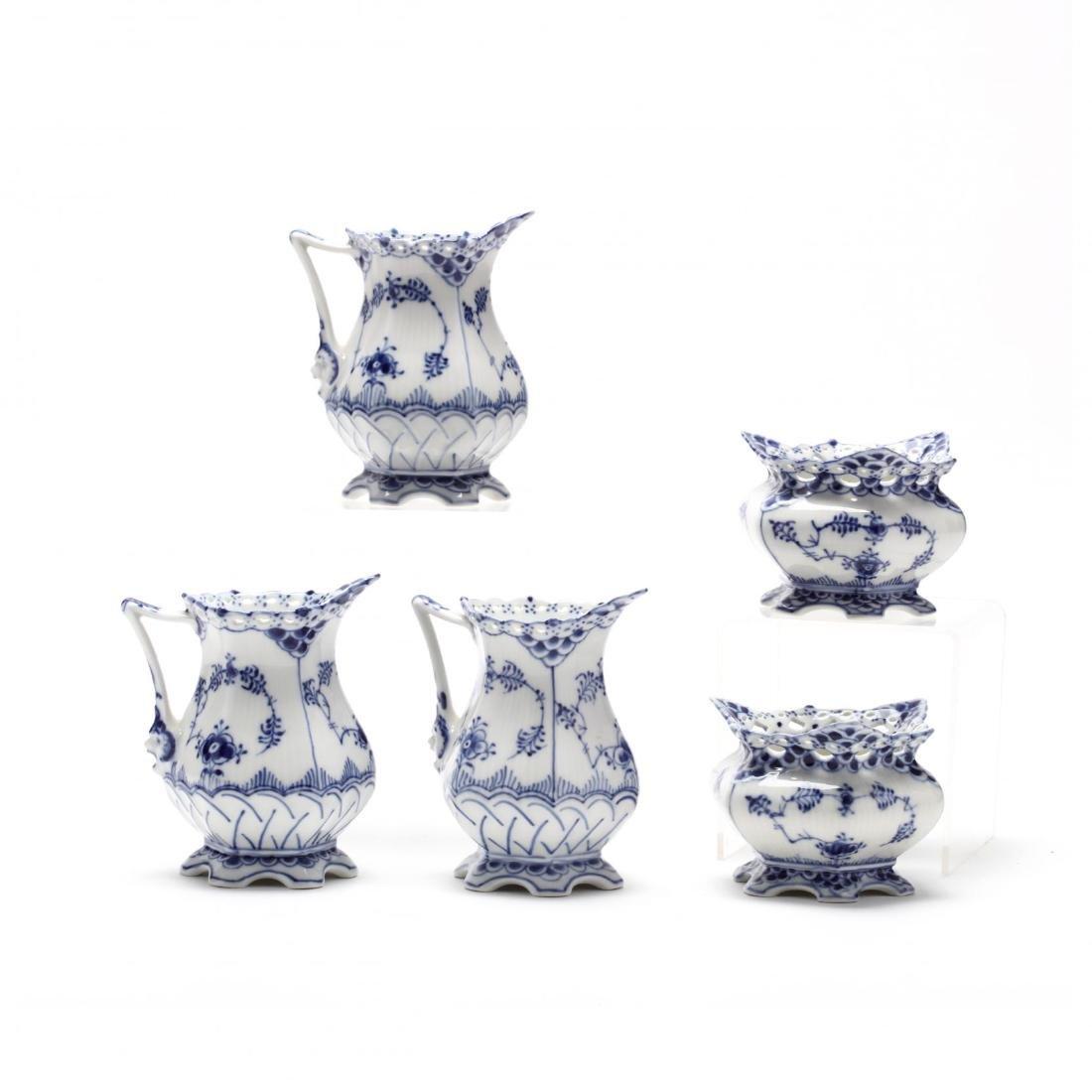 An Assembled Set of Royal Copenhagen Fluted Lace - 5
