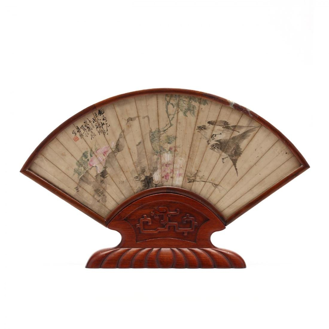 A Matched Pair of Chinese Framed Fan Face Paintings - 2