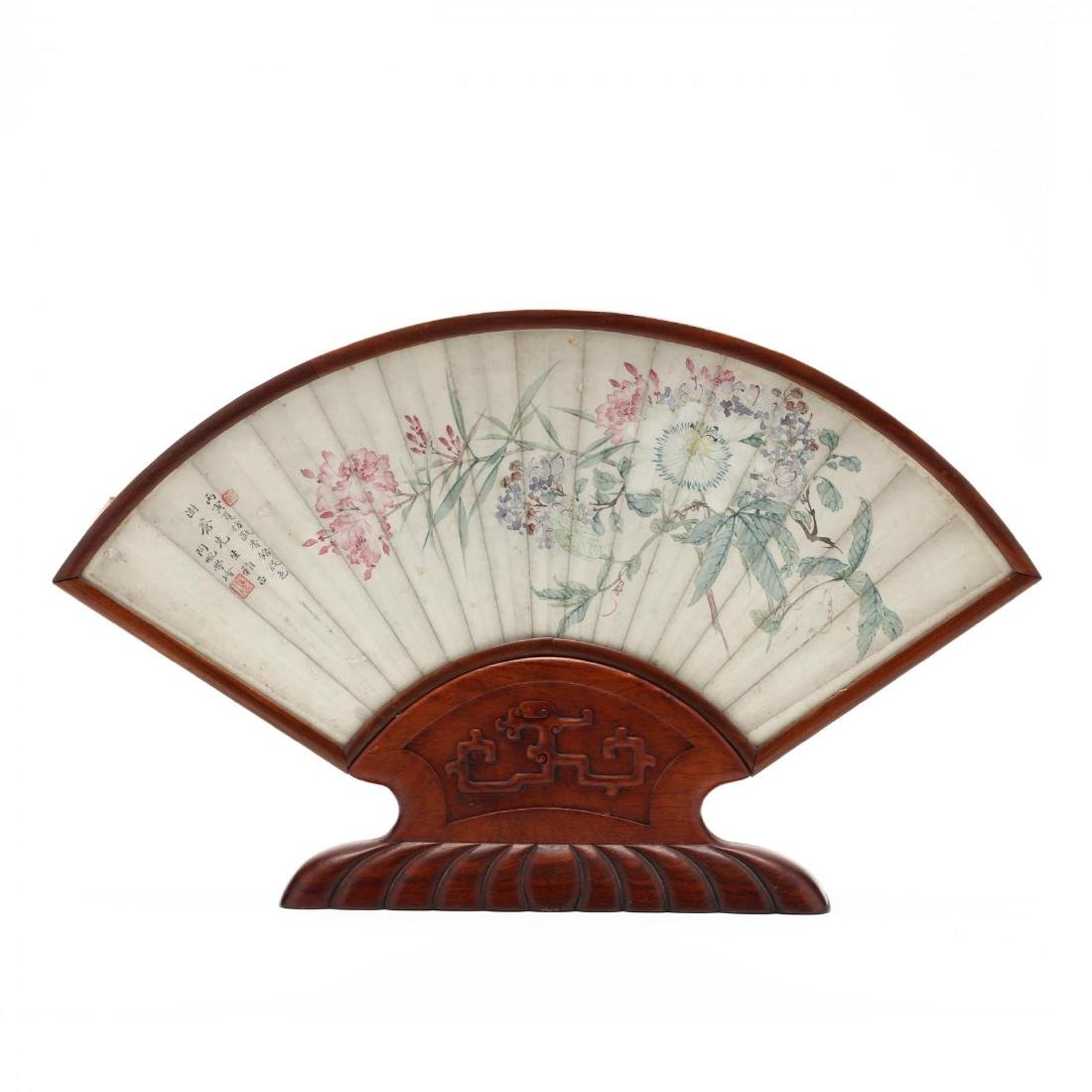 A Matched Pair of Chinese Framed Fan Face Paintings - 5