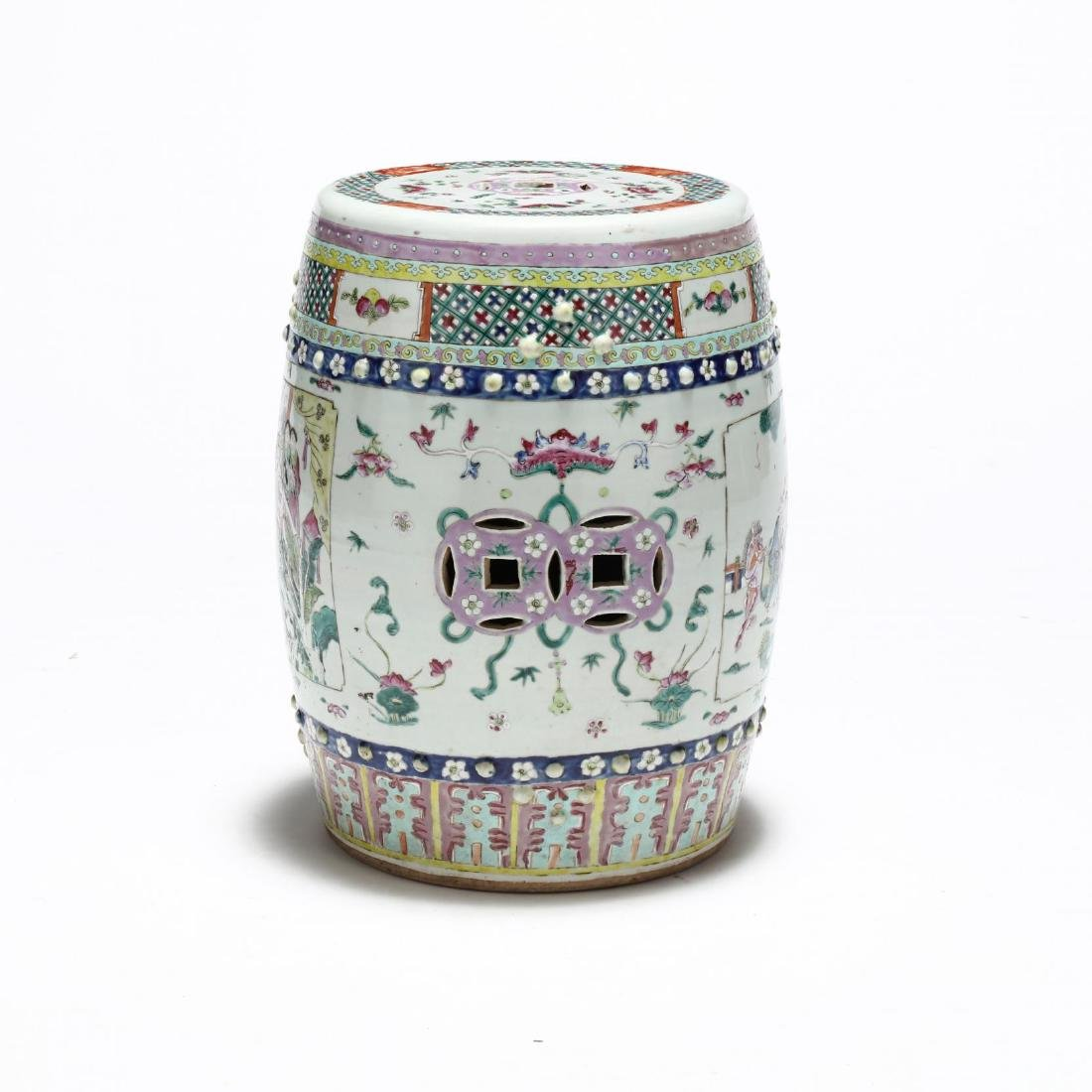 A Chinese Famille Rose Drum Garden Stool - 3