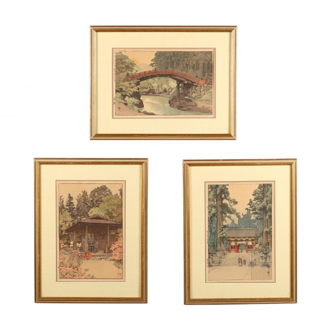 Three Japanese Woodblock Prints by Hiroshi Yoshida