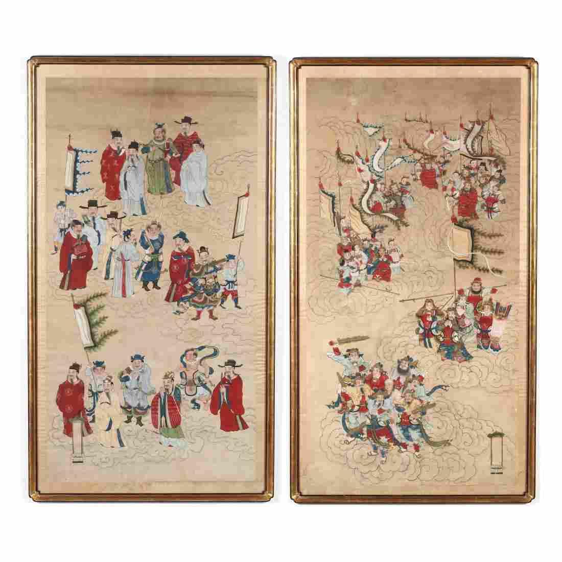 A Pair of Korean Paintings