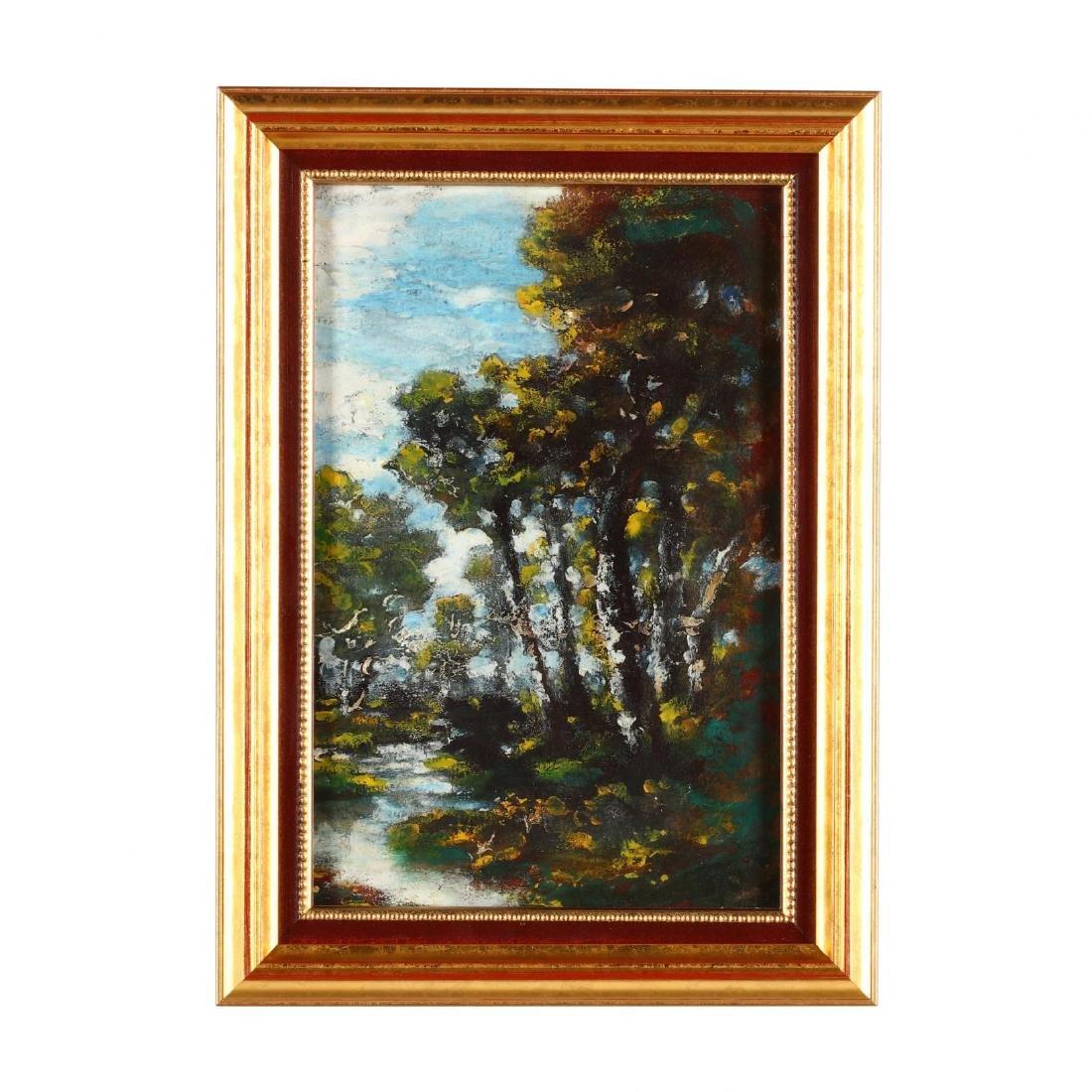 Ralph Albert Blakelock (NY/CA, 1847-1919), Forest