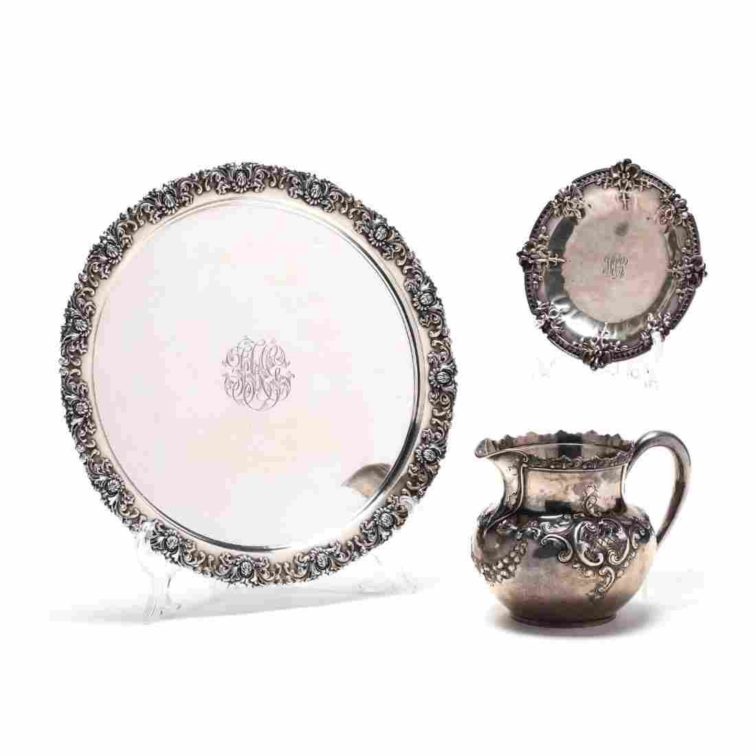 Three Antique Sterling Silver Tablewares, Tiffany & Co.
