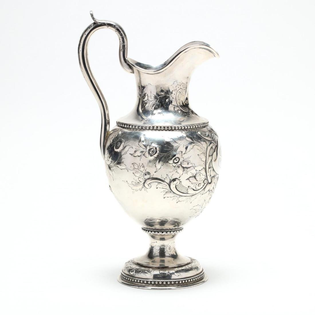 A Boston Coin Silver Water Pitcher - 2