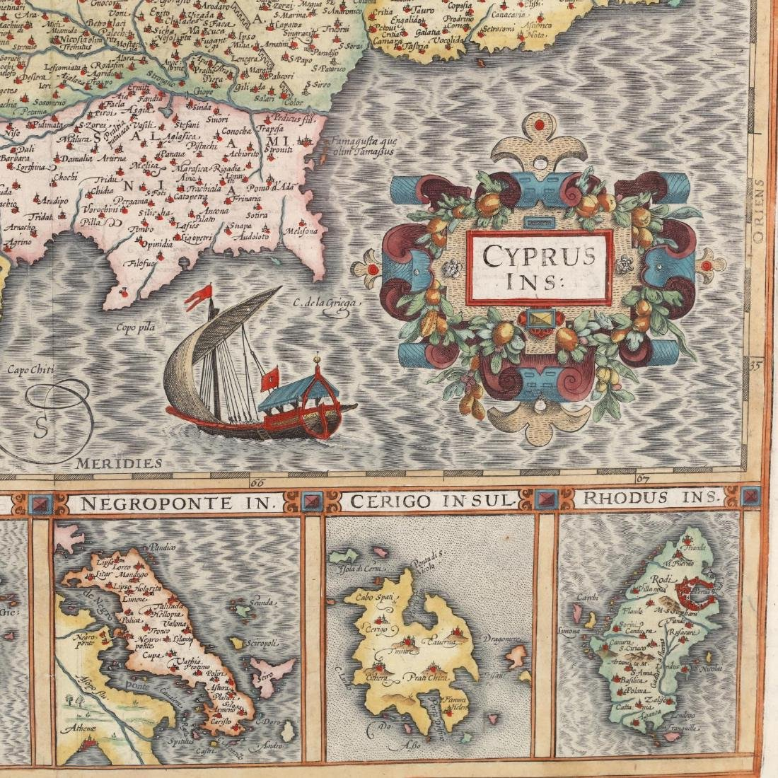 Hondius, Joducius and Mercator, Gerard.  Cyprus Ins: - 2