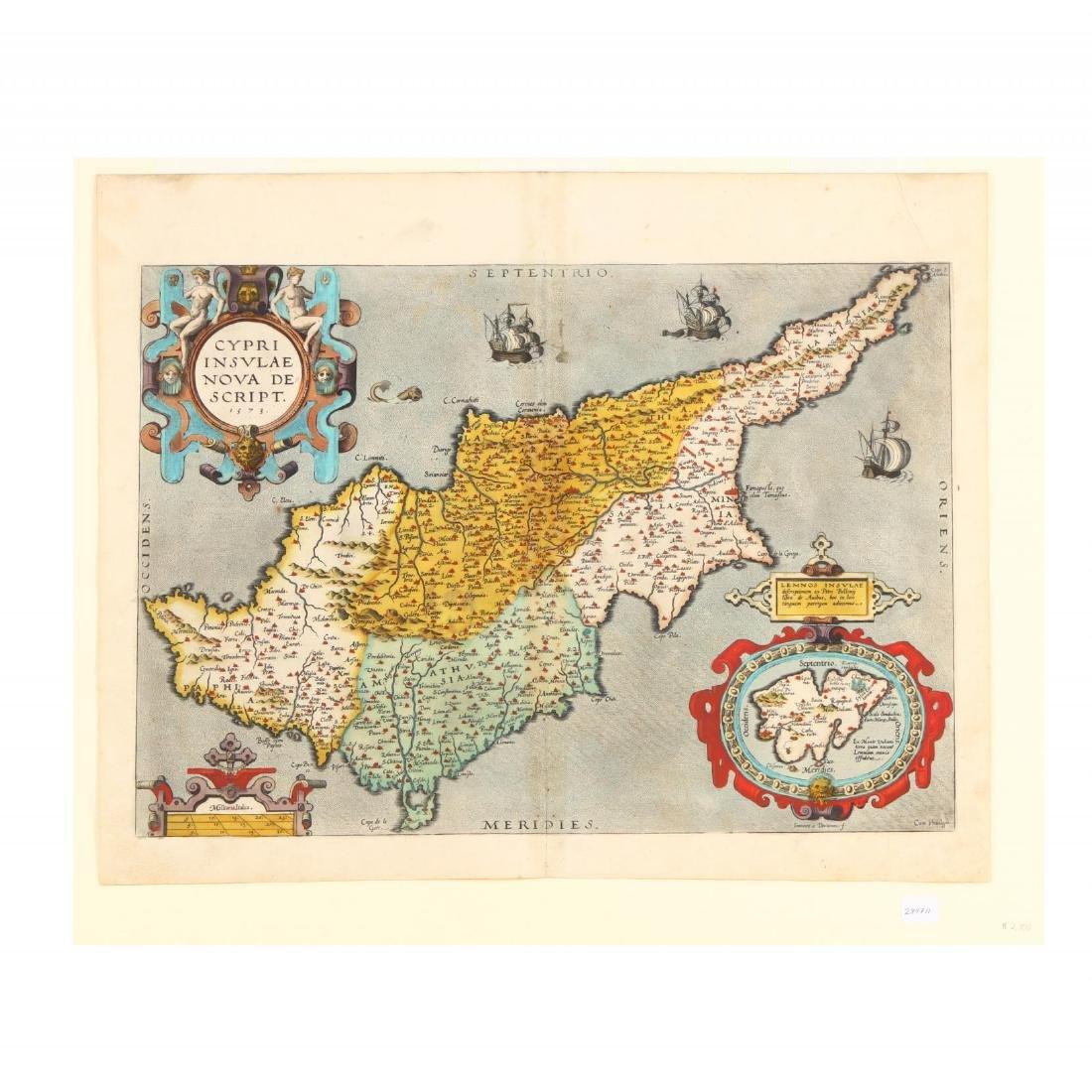 Ortelius, Abraham.  Cypri Insulae Nova Descript.