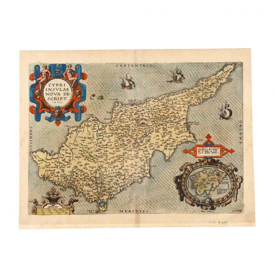 Ortelius, Abraham.  Cypri Insulae Nova Descipt.