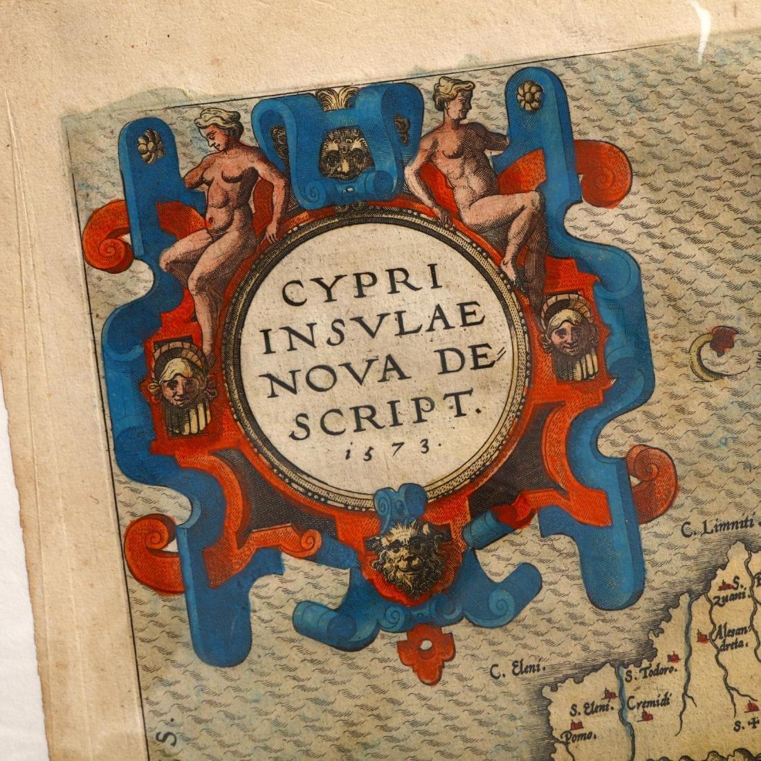 Ortelius, Abraham.  Cypri Insulae Nova Descipt. - 2