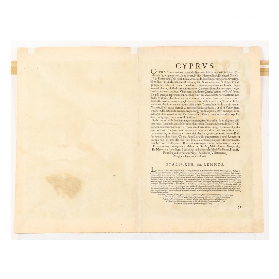 Ortelius, Abraham.  Cypri Insulae Nova Descipt. - 3