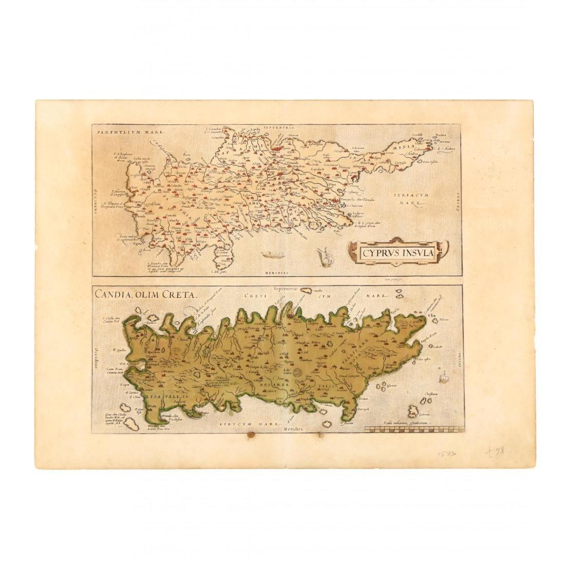 Ortelius, Abraham.  Cyprus Insula  with  Candia Olim