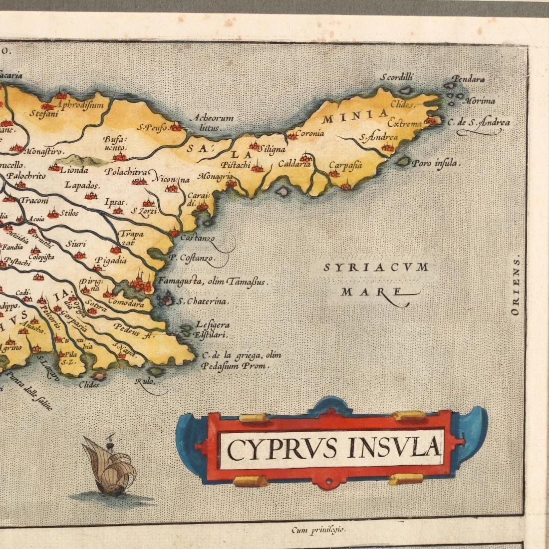 Ortelius, Abraham.  Cyprus Insula  with  Candia Olim - 2