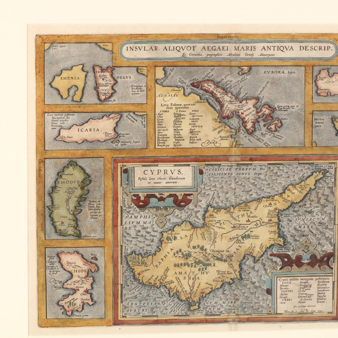 Ortelius, Abraham.  Insular. Aliquot Aegaei Maris - 2