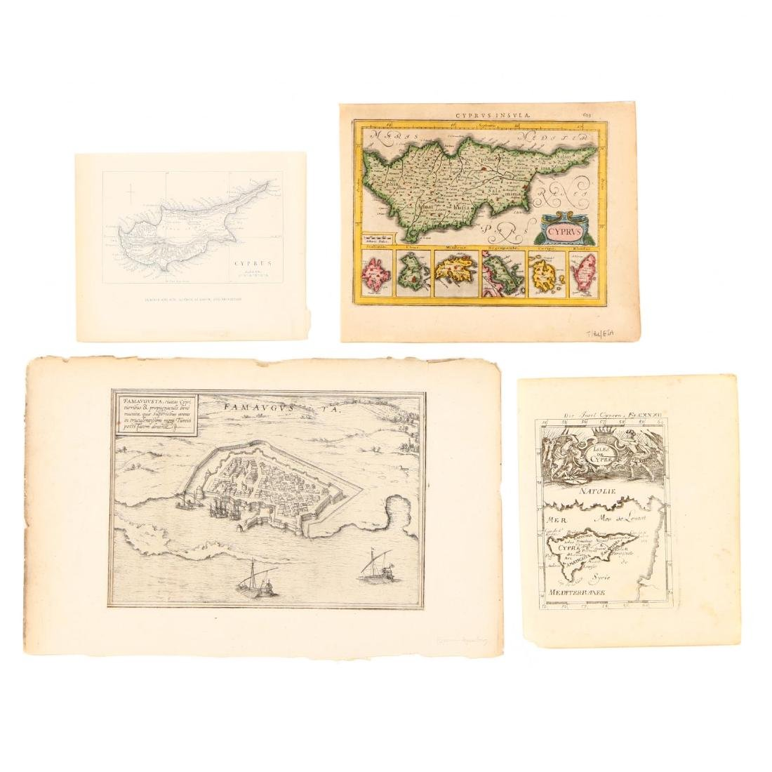 Four Small Antique Maps Pertaining to Cyprus