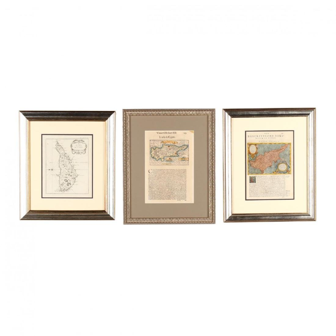 Three Copperplate Maps of Cyprus on Disbound Book