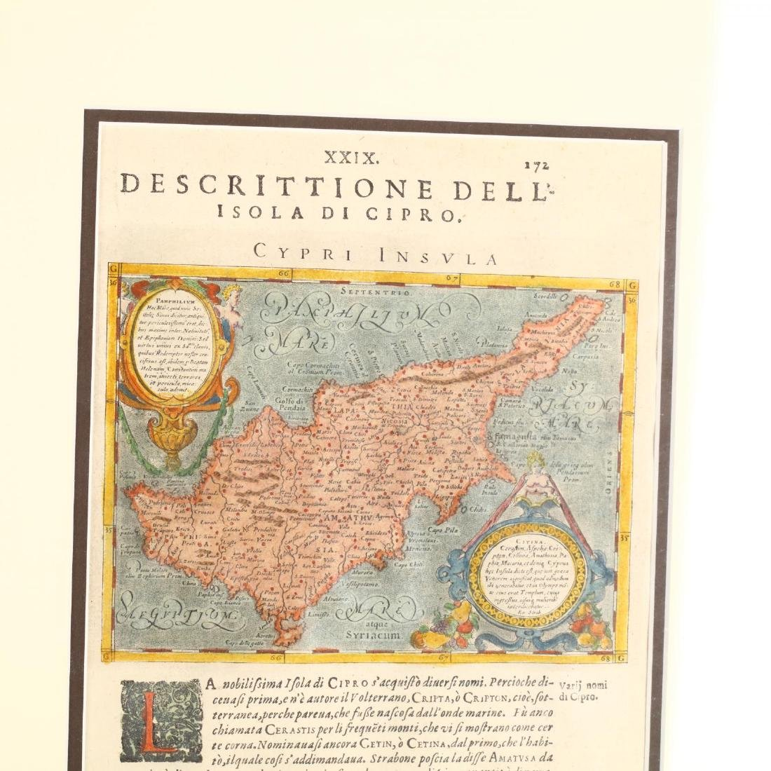 Three Copperplate Maps of Cyprus on Disbound Book - 3