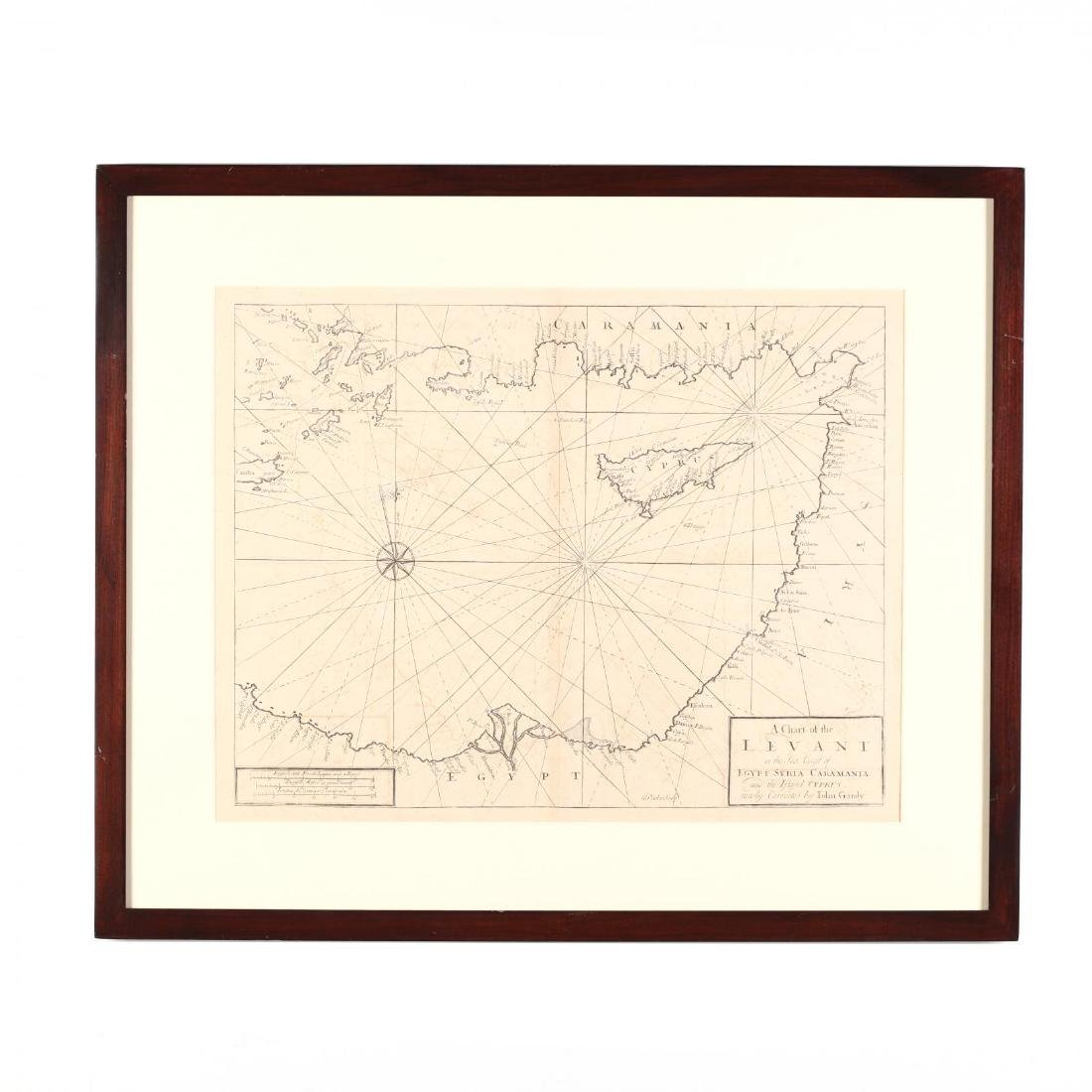 18th Century English Sea Chart of the Eastern
