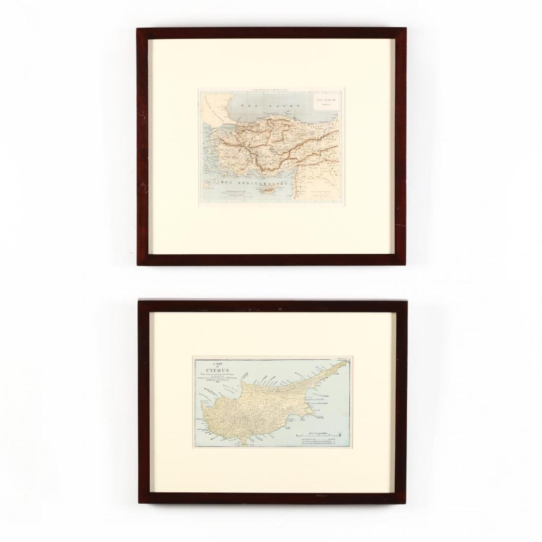 Two 19th Century Maps of Cyprus