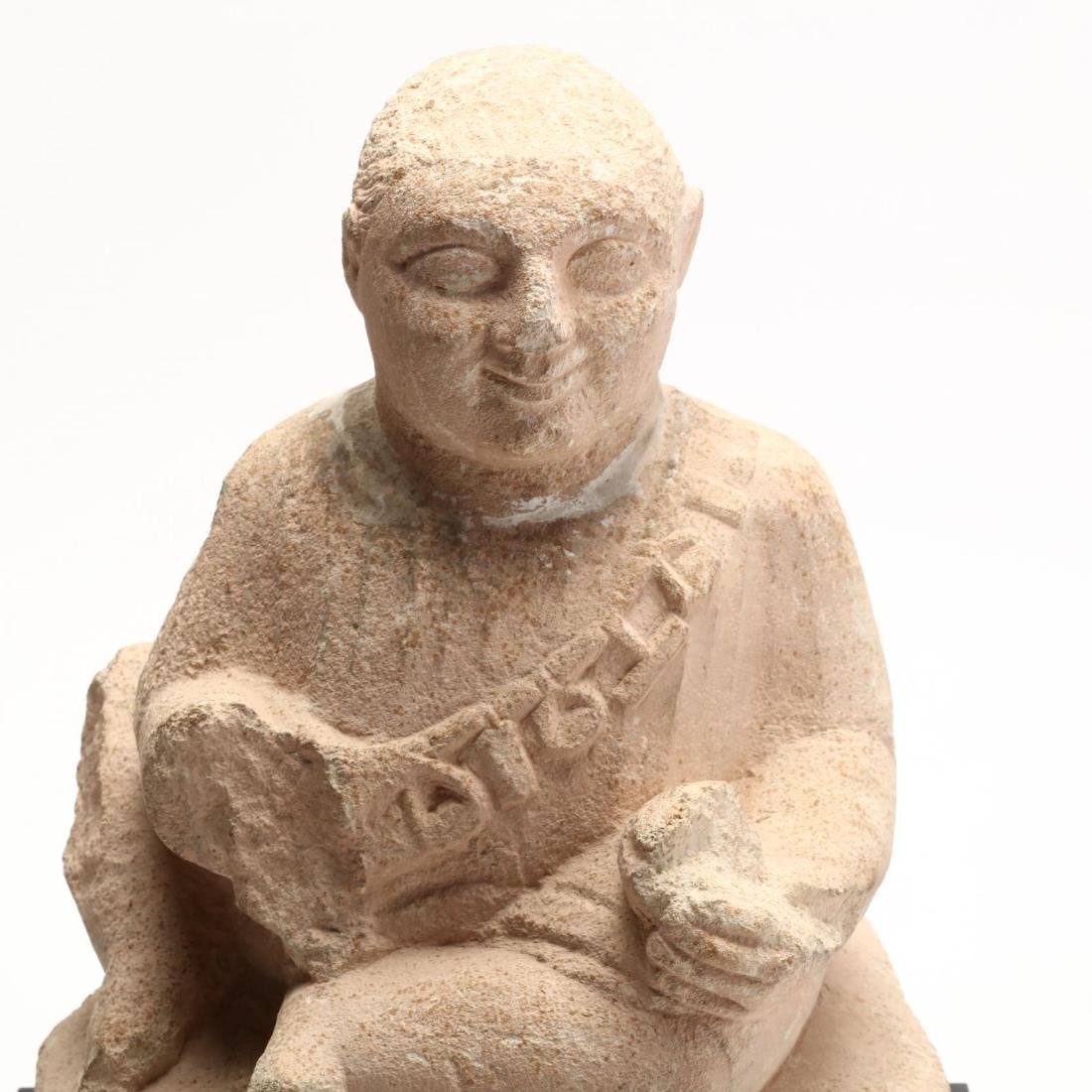 Cypriot Seated Limestone Figure, Ex. Cesnola Collection - 2