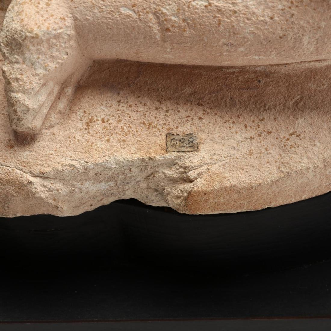 Cypriot Seated Limestone Figure, Ex. Cesnola Collection - 3