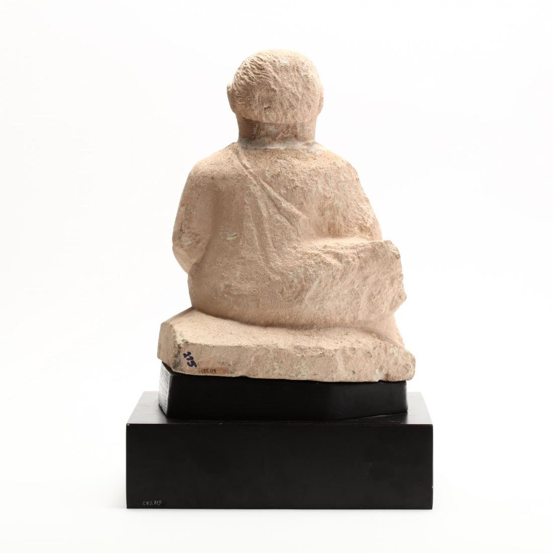 Cypriot Seated Limestone Figure, Ex. Cesnola Collection - 5