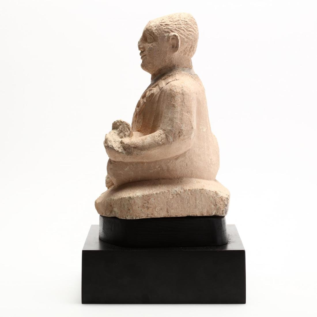 Cypriot Seated Limestone Figure, Ex. Cesnola Collection - 6