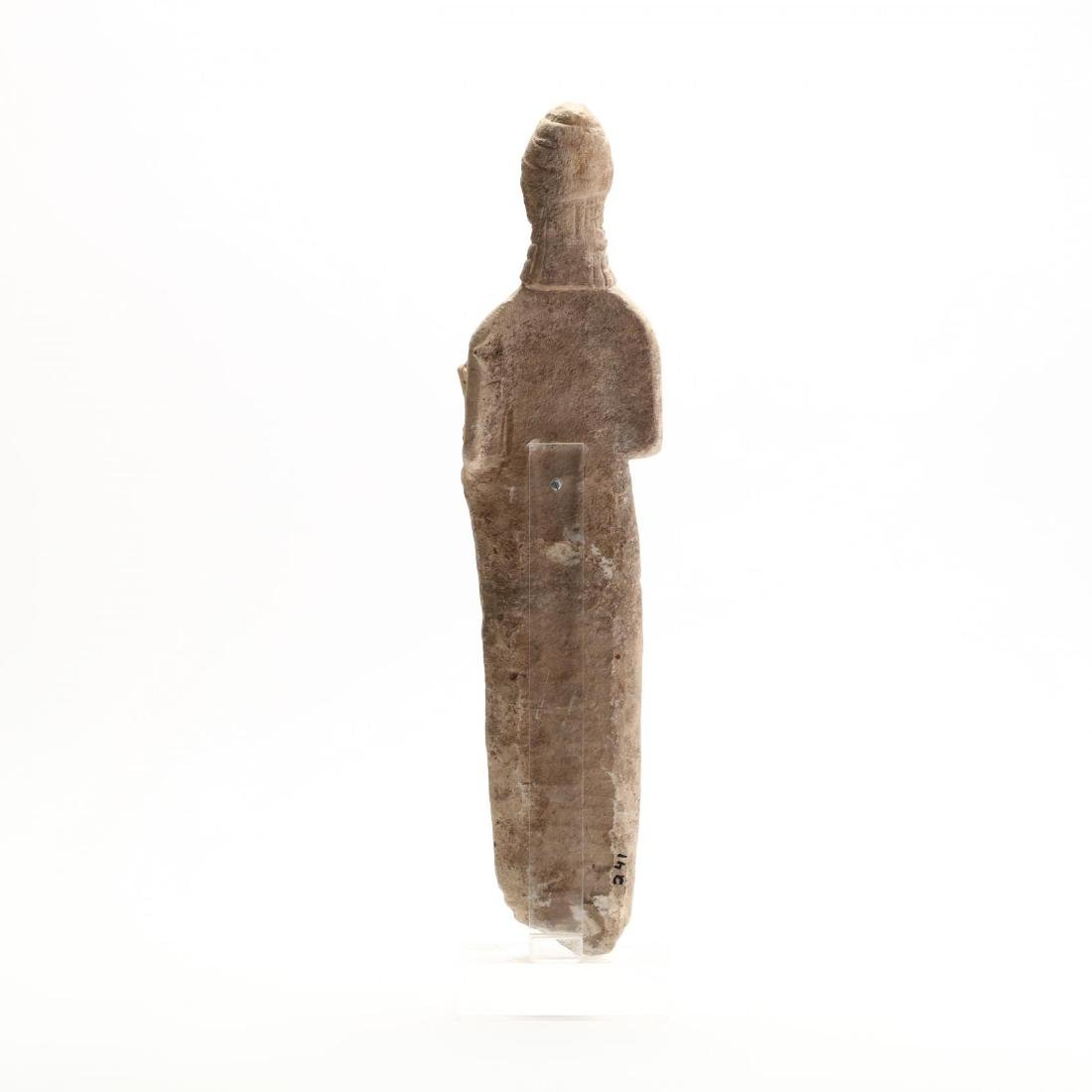 Cypriot Carved Limestone Female Figure - 4