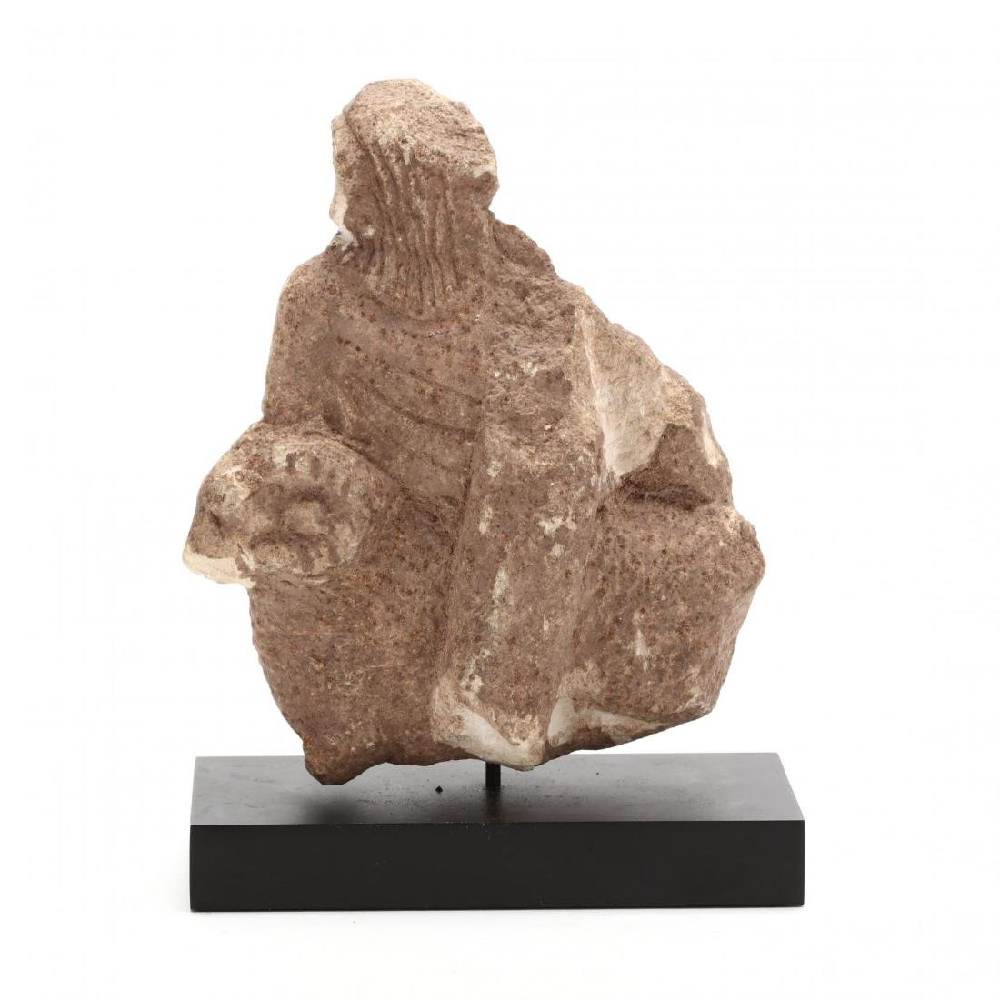 Cypriot Archaic Limestone Carving of a Deity - 2