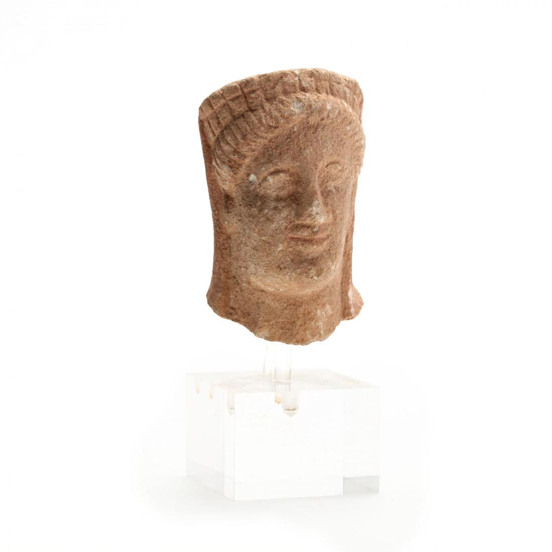 Cypriot Limestone Head of a Woman