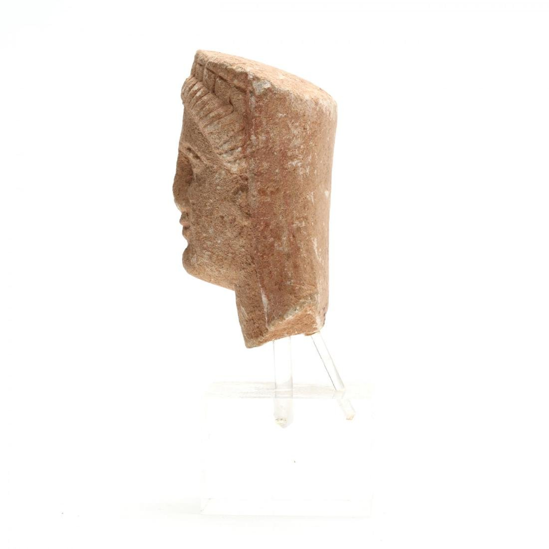 Cypriot Limestone Head of a Woman - 4