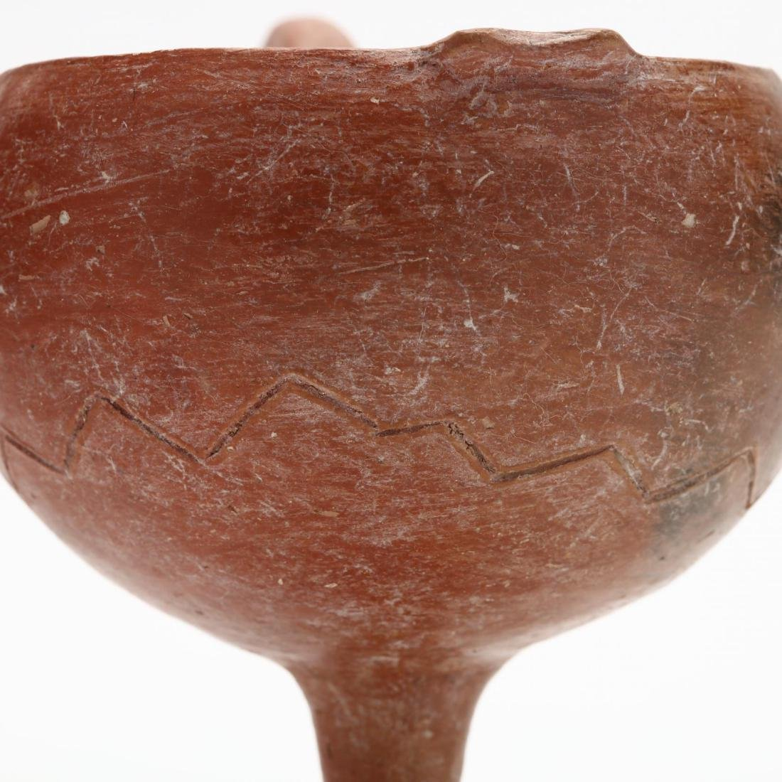 Cypriot Early Bronze Age Polished Red Ware Funnel - 3