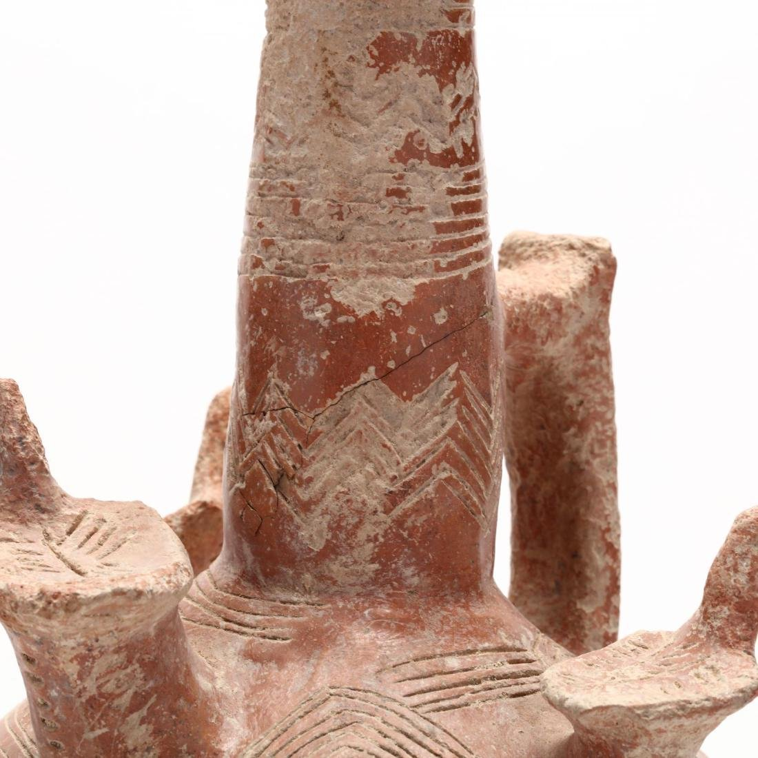 Cypriot Bronze Age Polished Red Ware Vessel - 4
