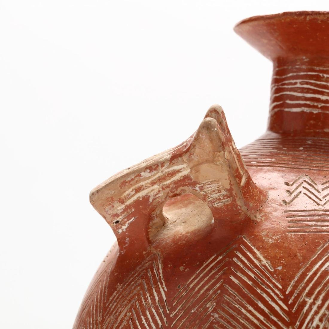 Cypriot Early Bronze Age Polished Red Ware Flagon - 2