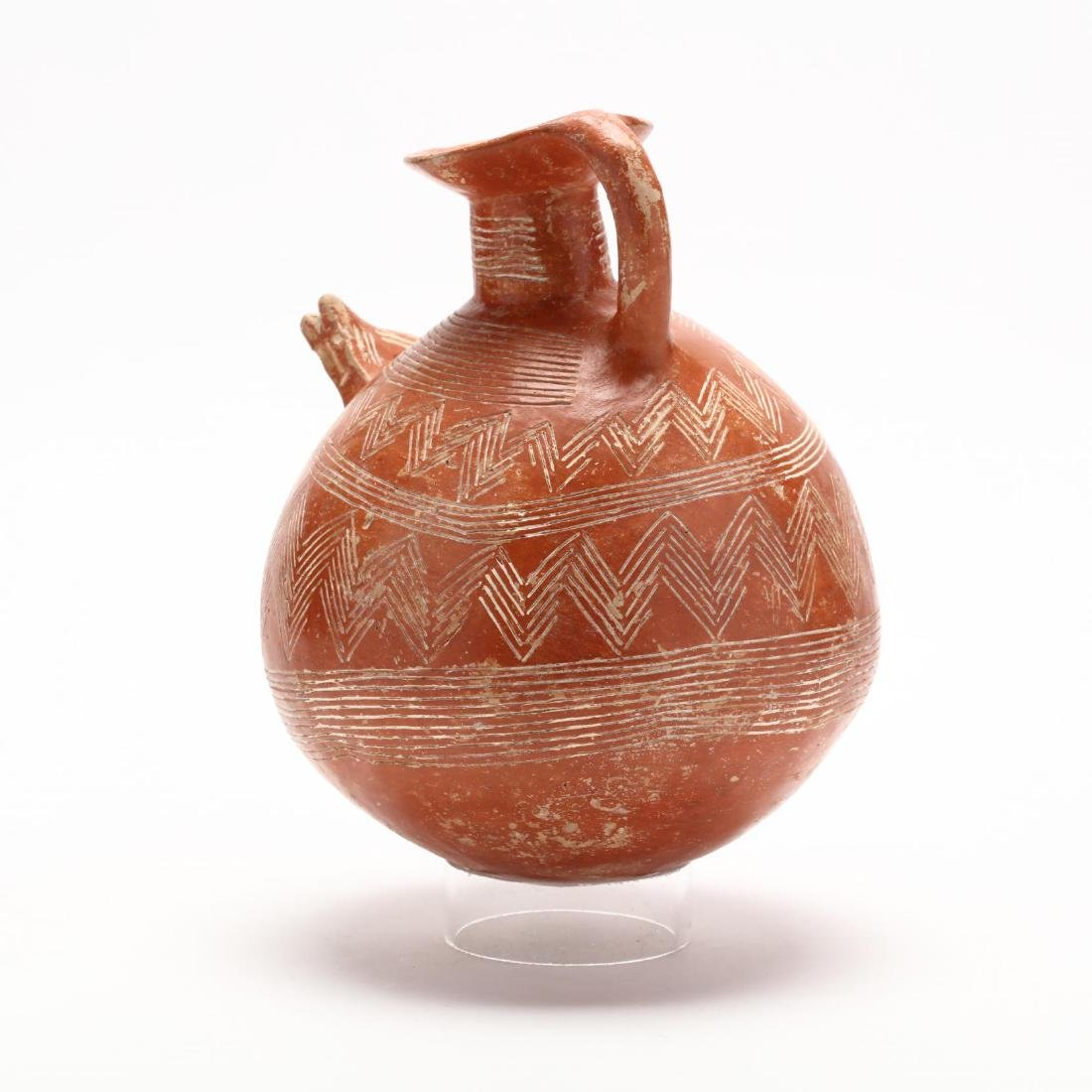 Cypriot Early Bronze Age Polished Red Ware Flagon - 4