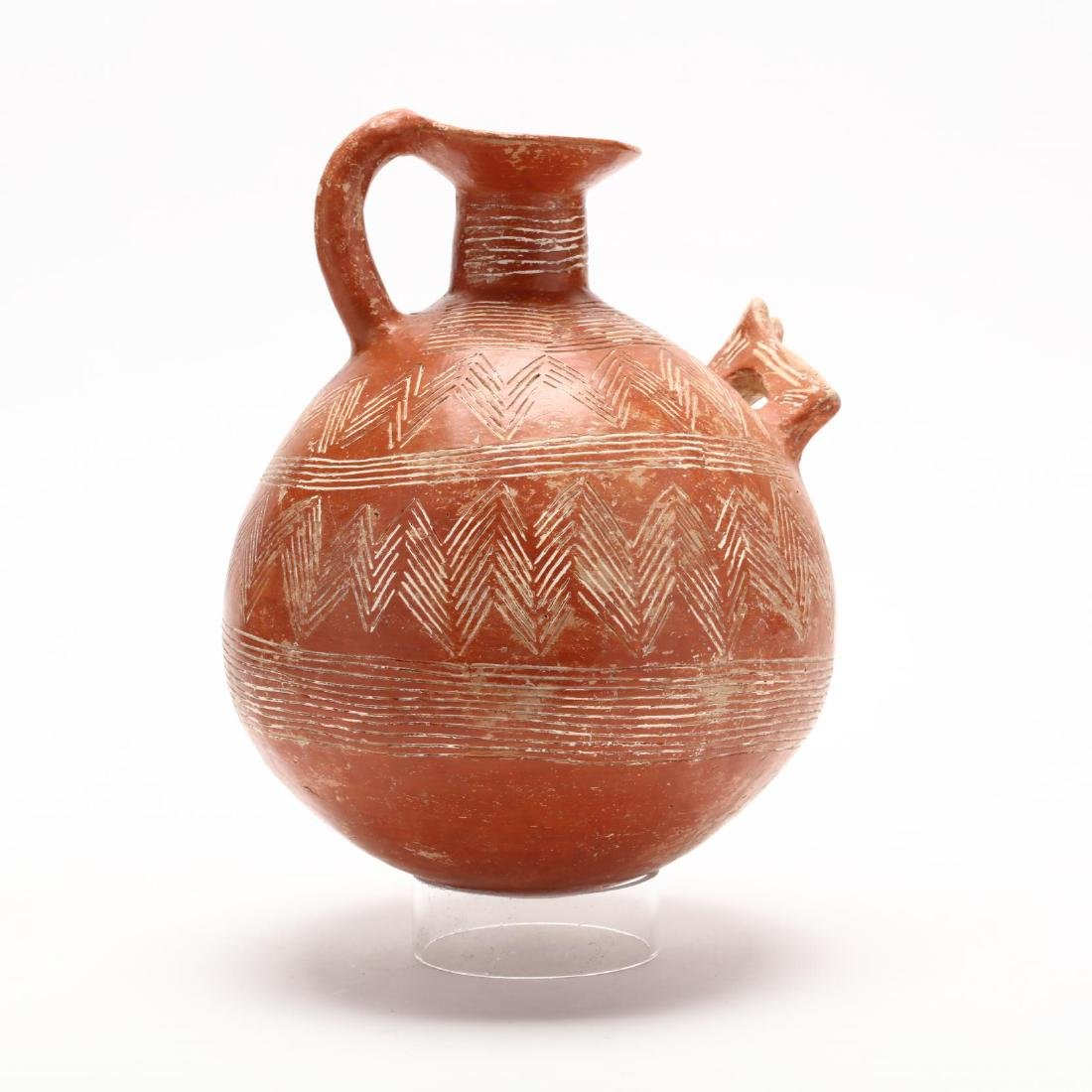 Cypriot Early Bronze Age Polished Red Ware Flagon - 5