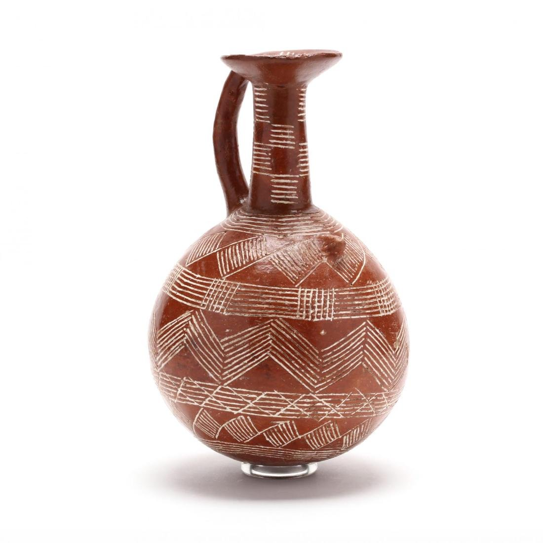 Cypriot Early Bronze Age Polished Red Ware Flask