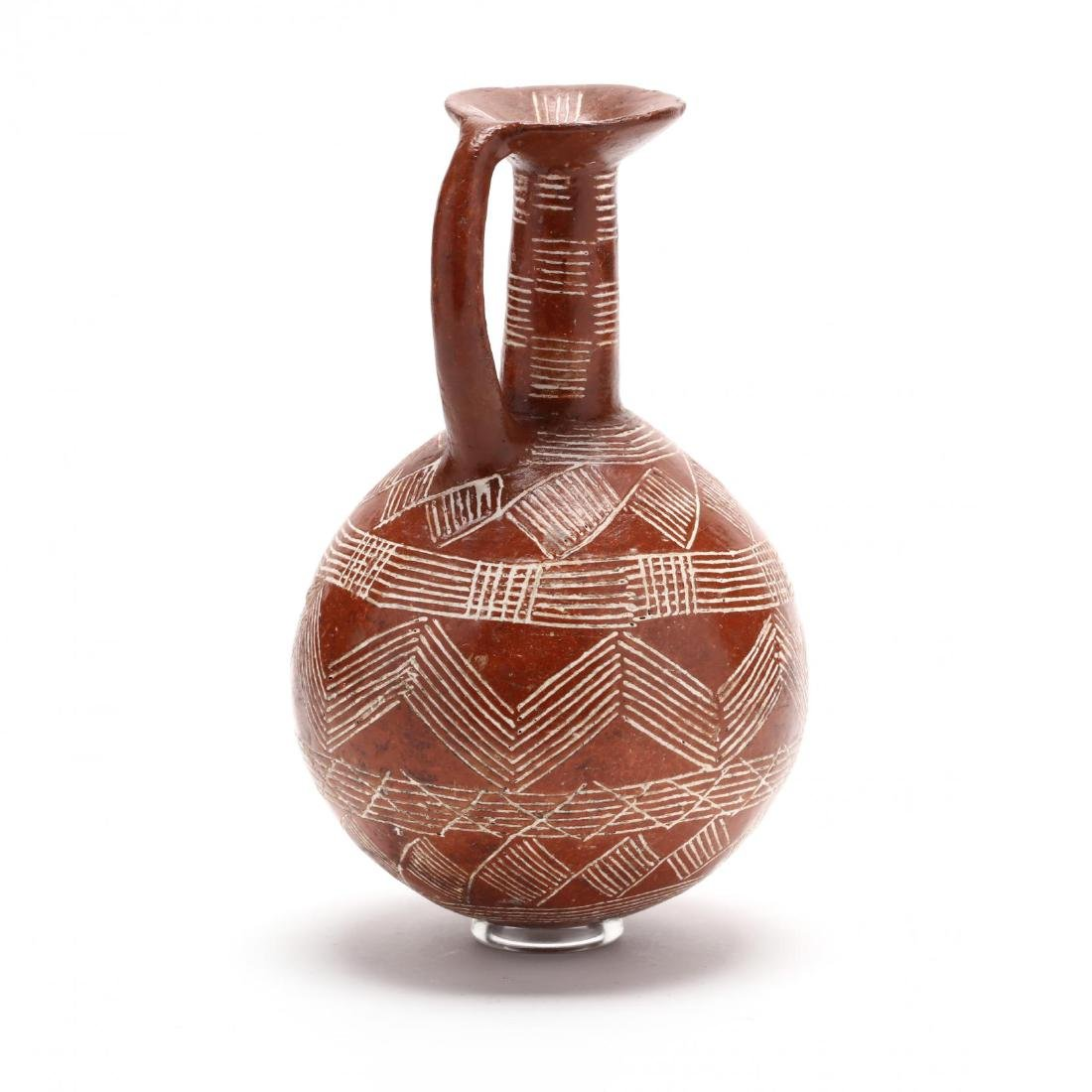Cypriot Early Bronze Age Polished Red Ware Flask - 4