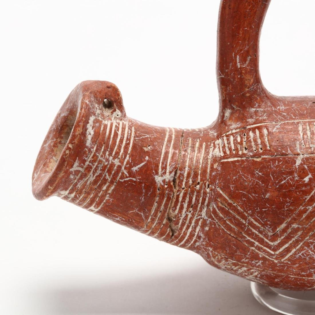 Cypriot Early Bronze Age Polished Red Ware Bird Aksos - 4
