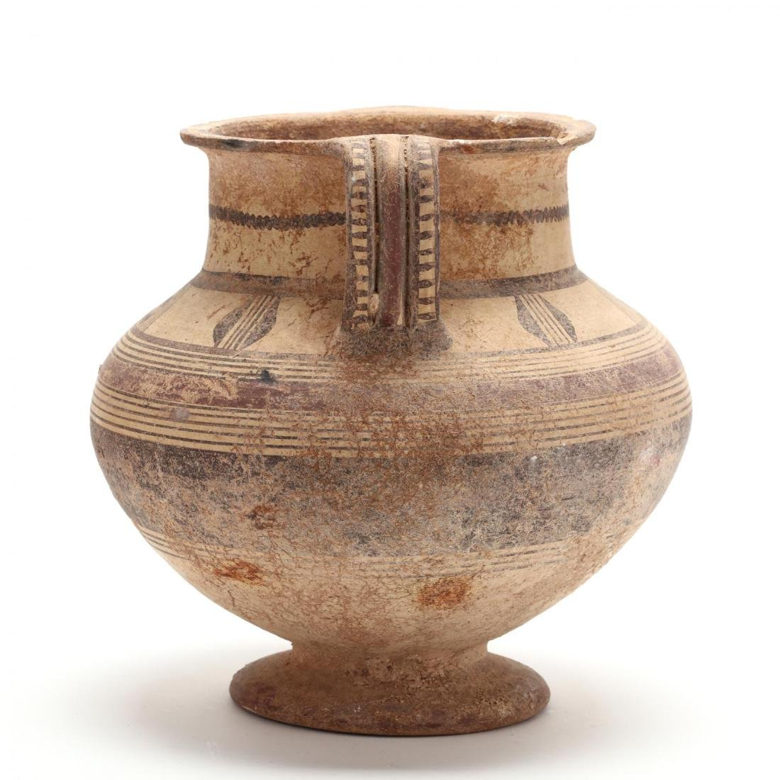 Cypro-Archaic Two-Handled Footed Amphora - 3