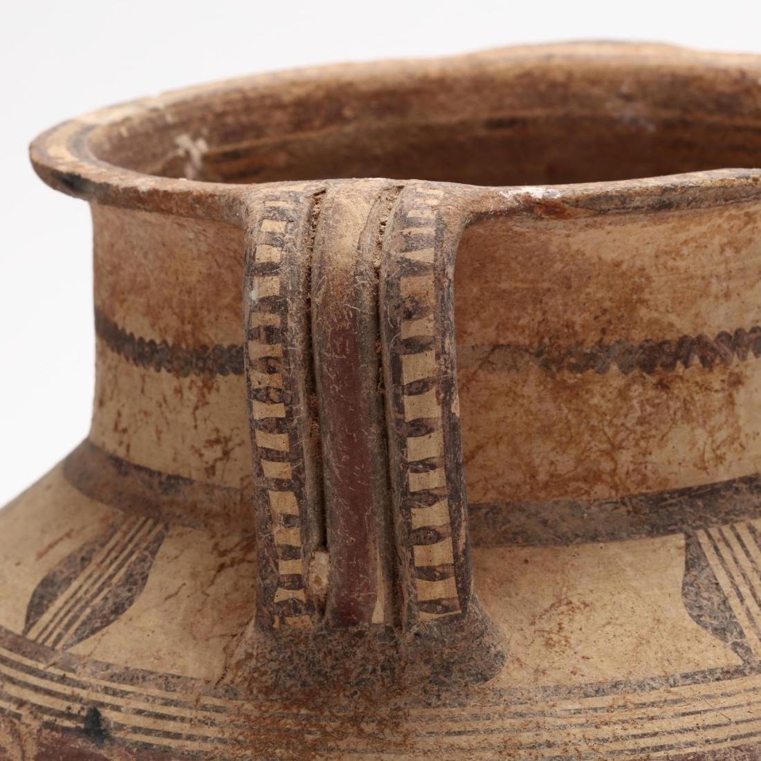 Cypro-Archaic Two-Handled Footed Amphora - 4