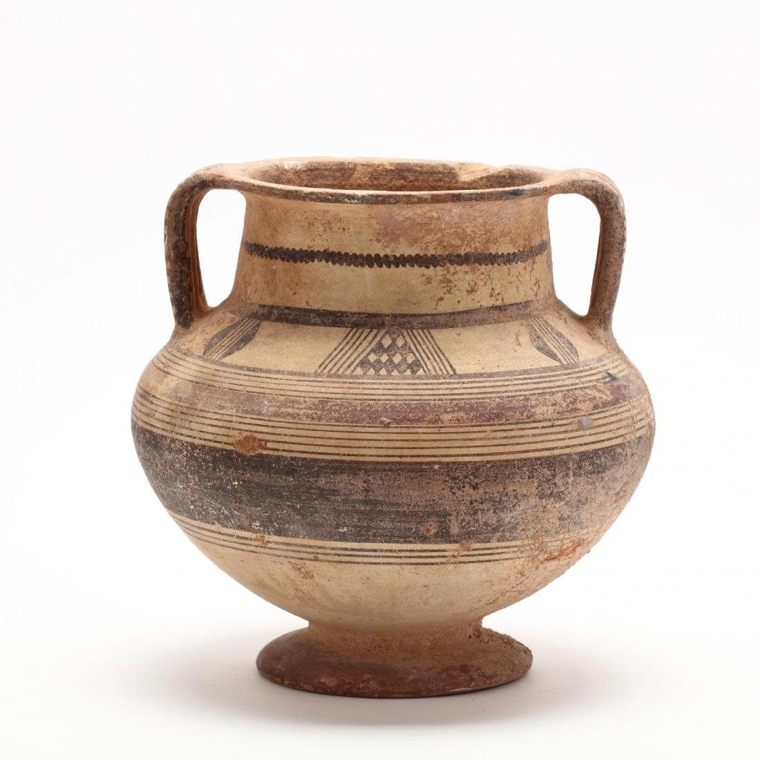 Cypro-Archaic Two-Handled Footed Amphora - 5