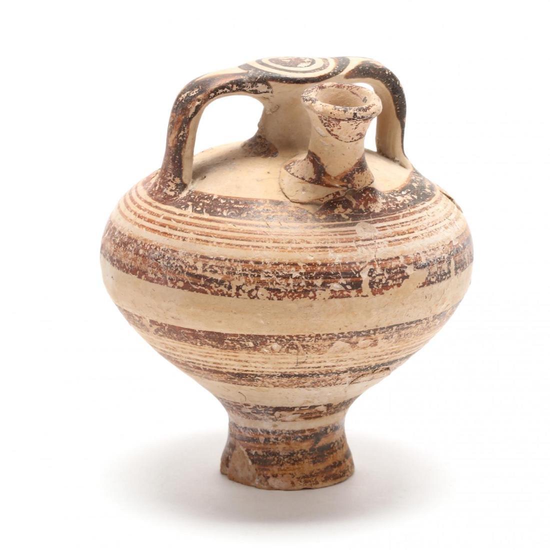 Cypro-Mycenaean Pottery Stirrup Jar