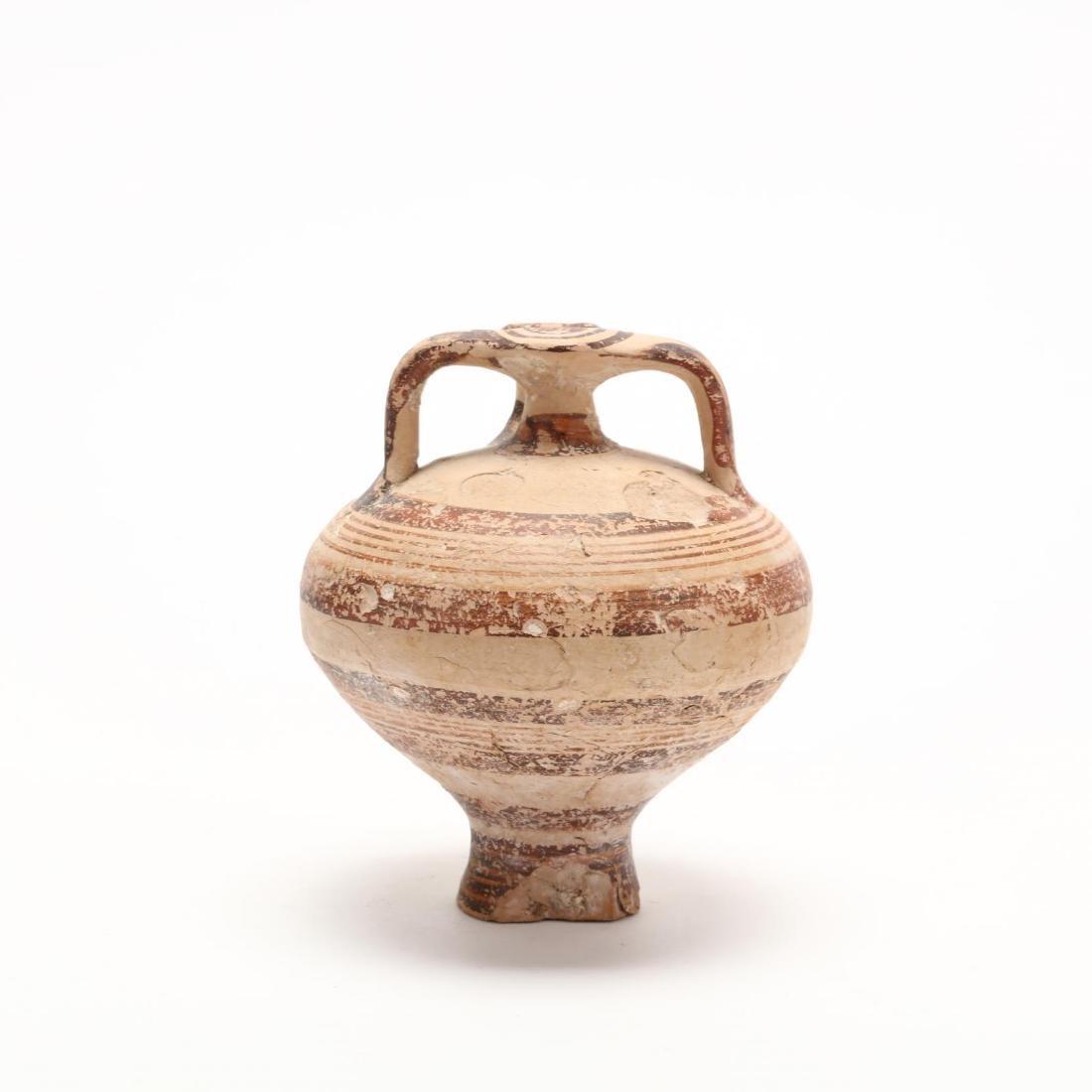 Cypro-Mycenaean Pottery Stirrup Jar - 4