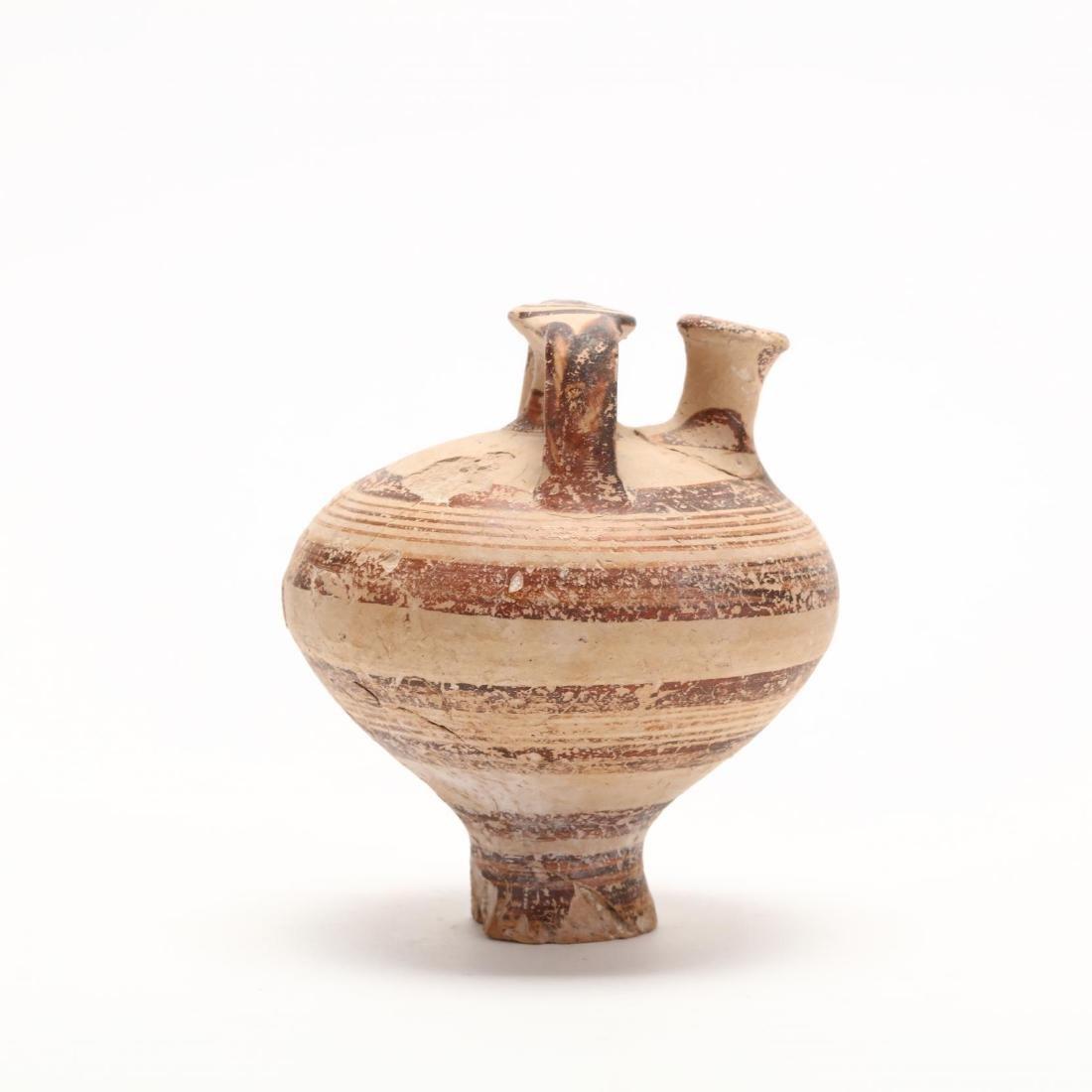 Cypro-Mycenaean Pottery Stirrup Jar - 6